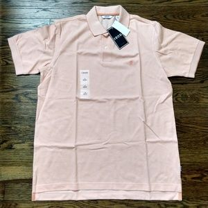 Men's IZOD pique polo shirt NWT salmon/peach  - M